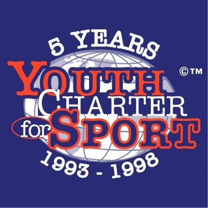 free vector Youth charter for sport