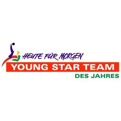 free vector Young star team des jahres
