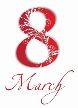 8 March International Women's Day Vector Illustration