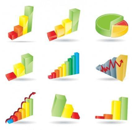 free vector Business Charts Vector Set