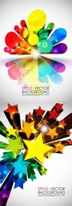 Bright 3d graphics vector