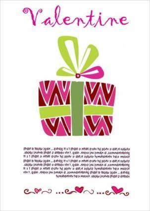 Valentine's Gift Card Vector Illustration