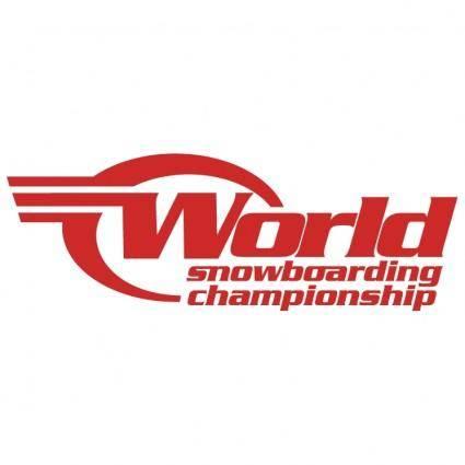free vector World snowboarding championship