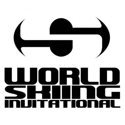free vector World skiing invitational