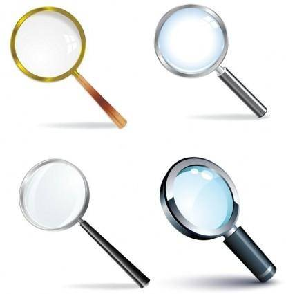 free vector Magnifying Glass Vector Set