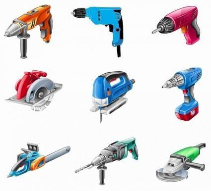 free vector Electric Tools Vector Set