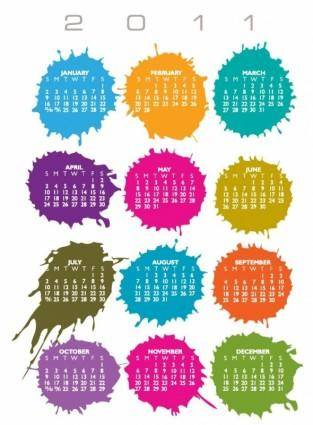 Calender for 2011 Vector Illustration