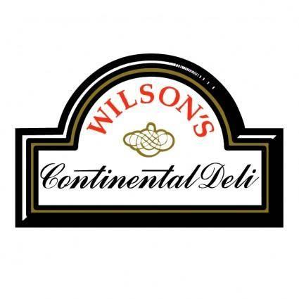 free vector Wilsons continental deli
