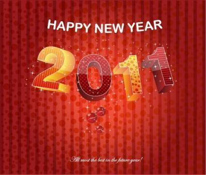 free vector Happy New Year 2011 Vector Graphic