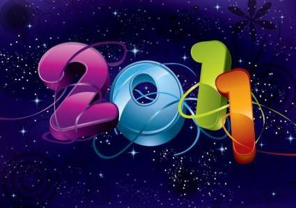 free vector 2011 New Year