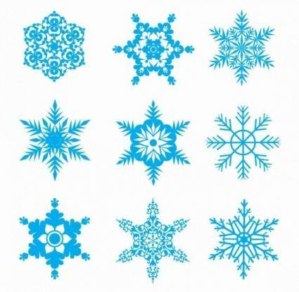 free vector Free Snowflakes Vector Set