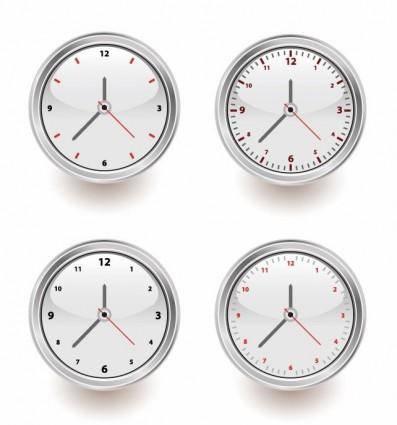 free vector Vector Set of Clocks