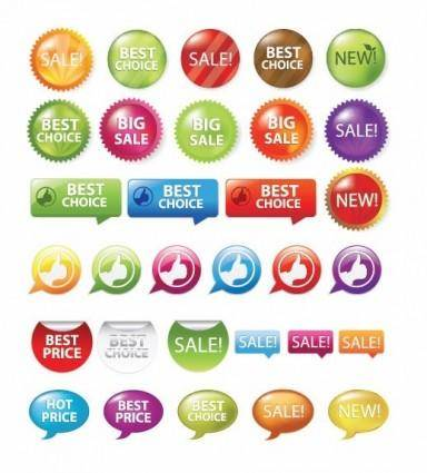 free vector Sale Shopping Tags and Signs Vector Graphics