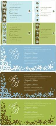 Wedding invitation panel vector