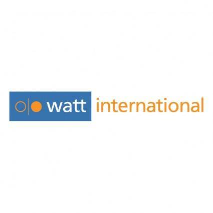 free vector Watt international