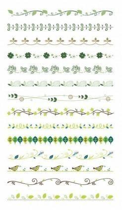 Vector Border Decoration Design Elements