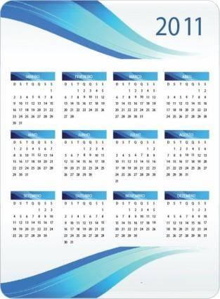free vector Printable 2011 Calendar Vector