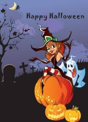 free vector Halloween Theme Design Vector Illustration