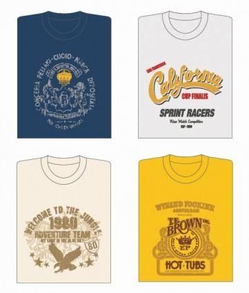 free vector 4 Vector T-shirt Designs