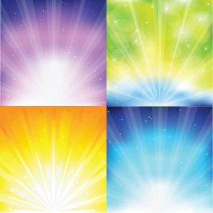 free vector Colorful Sunburst Vector Graphics