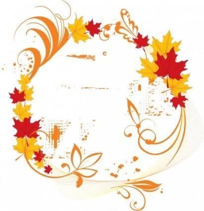 Vector Autumn Elegant Frame