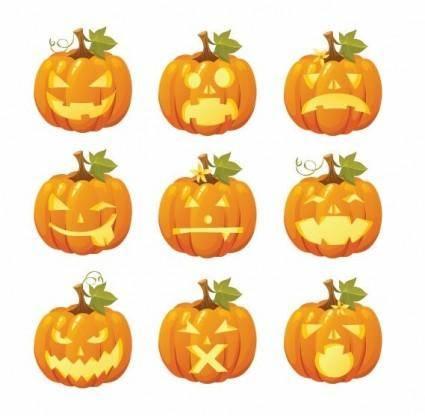 free vector Free Vector Halloween Pumpkin Smileys