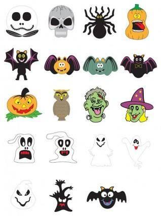 free vector Free Halloween Vector Pumpkins