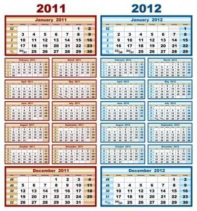 free vector Beautiful calendar 20112012