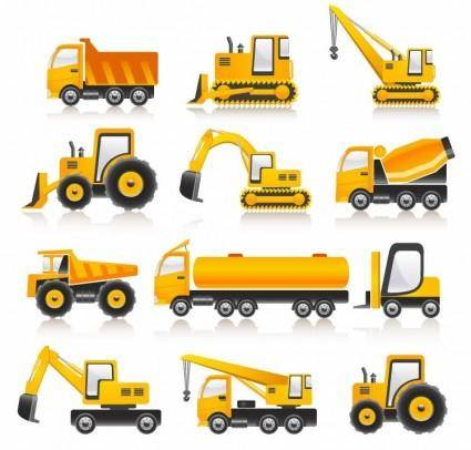 free vector Construction Vehicles Vector Collection
