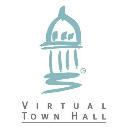 free vector Virtual town hall