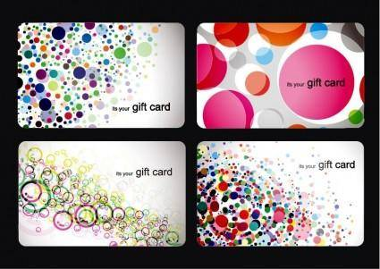 free vector Modern Gift Card Templates Vector Set