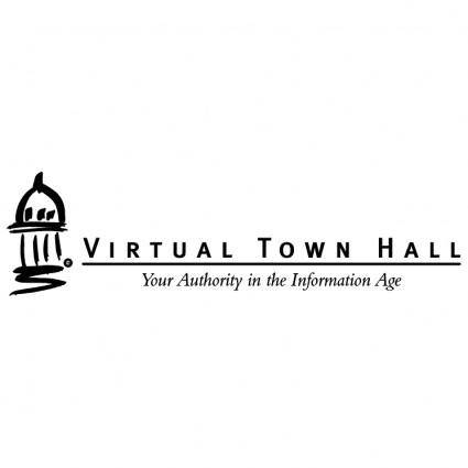 free vector Virtual town hall 0