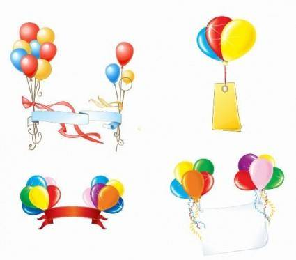 free vector Beautiful Party Balloons Vector