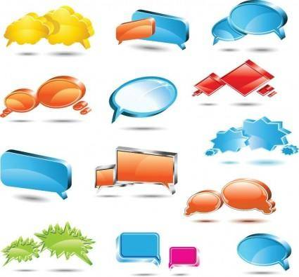 free vector Speech Bubbles Vector Set