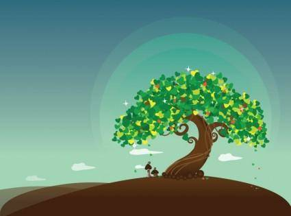 Wish Tree Vector Illustration