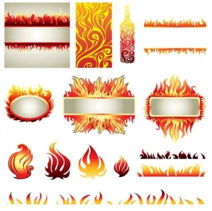 free vector Flame elements vector
