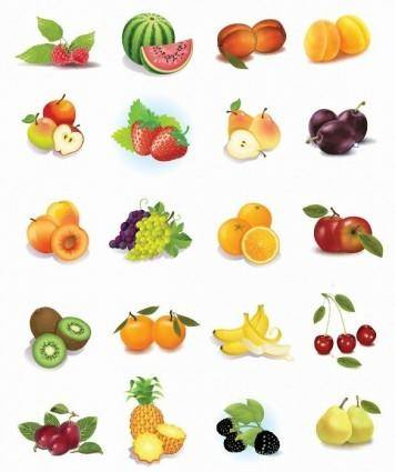 free vector Set of Fruits Vector Graphics