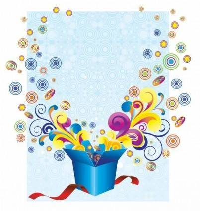 Free Groovy Gift Box Vector Illustration