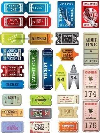 free vector Tickets in Different Styles Vector Set