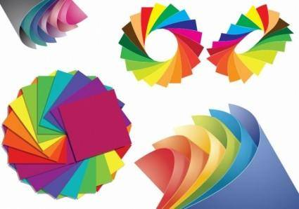 free vector Paper of Different Colors Vector Graphic
