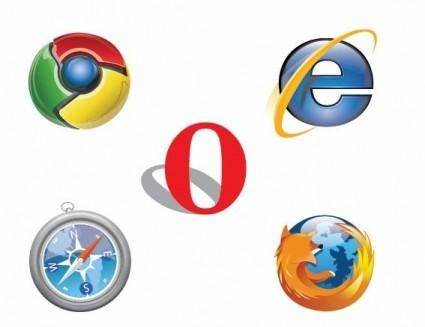 free vector Free IE Chrome Firefox Safari Opera Logo Vector
