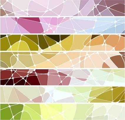 Geometric mosaic texture vector