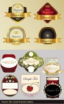 free vector Stickers and labels wine vector 1