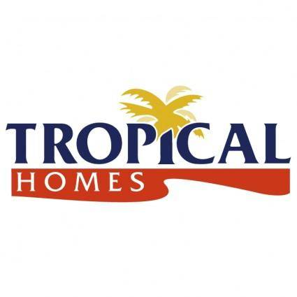 free vector Tropical homes