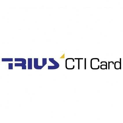 Trius cti card