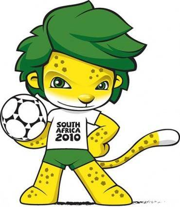 free vector South Africa 2010 World Cup Mascot ZAKUMI Vector