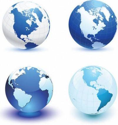 free vector Vector Globes