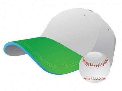 free vector Baseball and Cap Vector Graphic