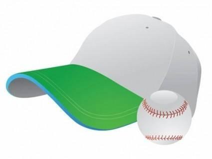 Baseball and Cap Vector Graphic