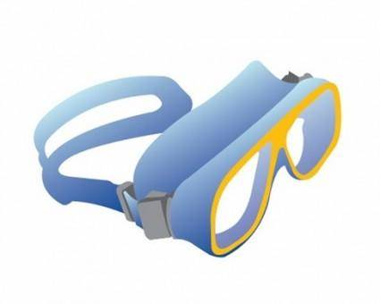 free vector Free Swimming Glasses Vector
